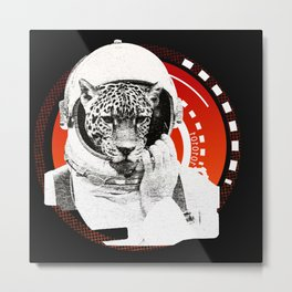 No One Can Hear You Meow in Space Metal Print