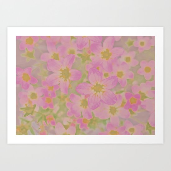 Pink Floral, The Earth Laughs In Flowers Art Print