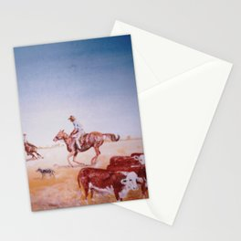 Rousting the Cattle, AUSTRALIA         by Kay Lipton Stationery Cards