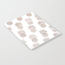 Rose gold pineapples Notebook