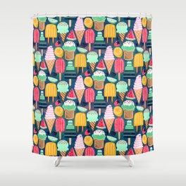 Yum-Summer Ice Cream Shower Curtain
