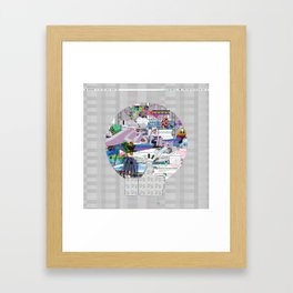 grey mandala Framed Art Print