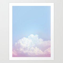 Dreamy Cotton Blue Sky Art Print