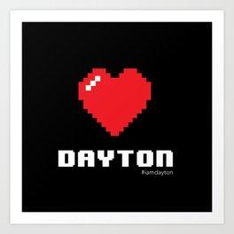 8 Bit Heart Dayton Art Print