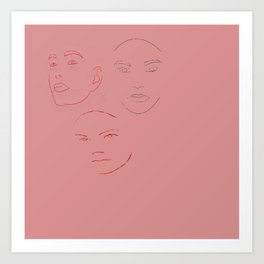 3 Faced Art Print