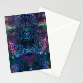 Violet snake skin pattern Stationery Cards