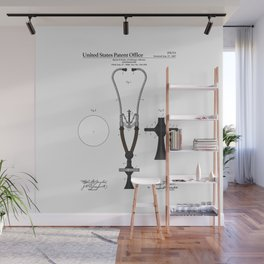 Stethoscope Patent Wall Mural
