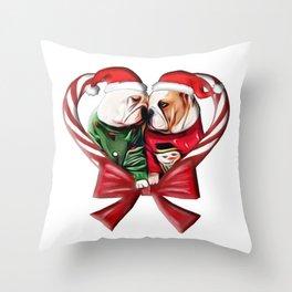 BULLDOG LOVERS Throw Pillow