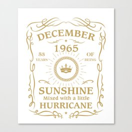 December 1965 Sunshine mixed Hurricane Canvas Print
