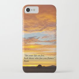 Set your life on fire - Sunset Madras Oregon iPhone Case