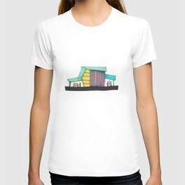 Retro Auto Shop Illustration 101 T-shirt