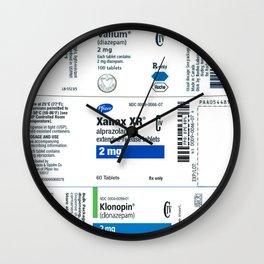 Drug Labels Wall Clock