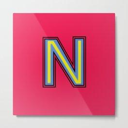 Letter N - 36 Days of Type Metal Print