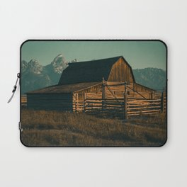 Wyoming High Country Barn Print Laptop Sleeve