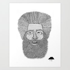 Afro Beard Man Art Print