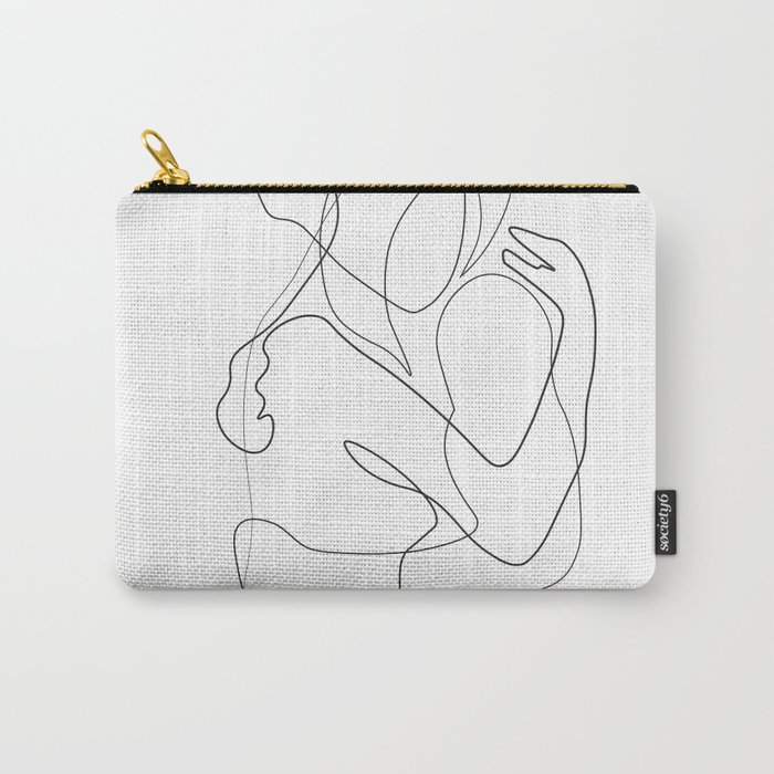 Lovers - Minimal Line Drawing Carry-All Pouch
