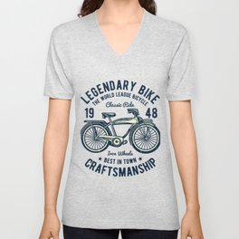 Classic Bicycle Unisex V-Neck