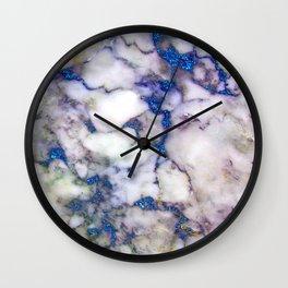 marble blue glow holo Wall Clock