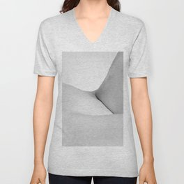 Abstract woman nude bodyscape Unisex V-Neck