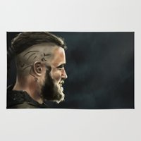 vikings Area & Throw Rugs featuring ragnar by Taner inceoğlu