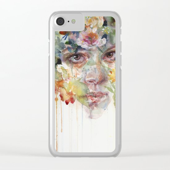 quiet zone Clear iPhone Case