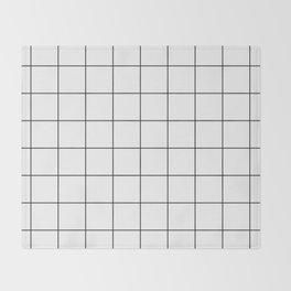 Square Grid Pattern Throw Blanket