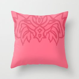 Scarlet Coral Throw Pillow