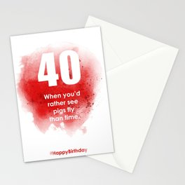 AgeIsJustANumber-40-StrawberryPopA Stationery Cards