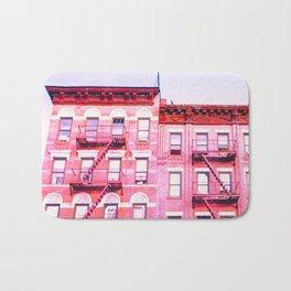 New York City Pink Buildings Bath Mat