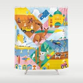 Travel To Australia Shower Curtain