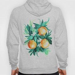 Orange flower watercolor Hoody