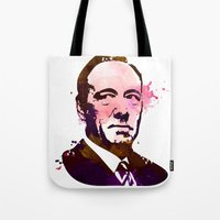 kevin russ Tote Bags featuring KEVIN SPACEY by BIG Colours