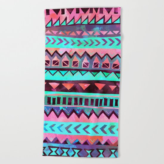 Tribal Pattern 05 Beach Towel