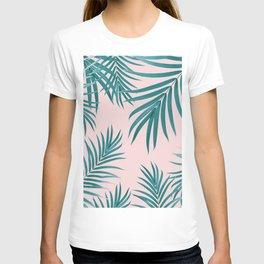 Palm Leaves Pattern Summer Vibes #1 #tropical #decor #art #society6 T-shirt