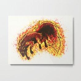 Feuerwolf Metal Print