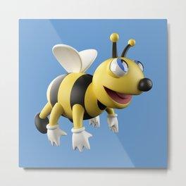 3D bee Metal Print