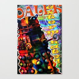 Dalek - Exterminate! by Mark Compton Canvas Print