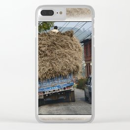 NEPALI HAY RIDE ON THE ROAD TO NAGARKOT Clear iPhone Case