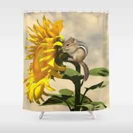 Waiting for the Sunflower Shower Curtain