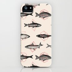 Fishes In Geometrics (Red) iPhone (5, 5s) Slim Case