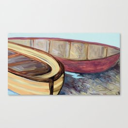 Boats on the Bank Canvas Print