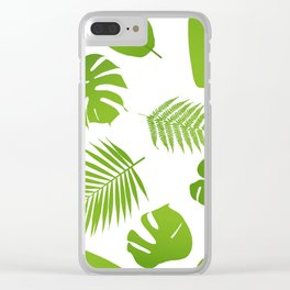 Tropical seamless pattern with palm and fern Clear iPhone Case