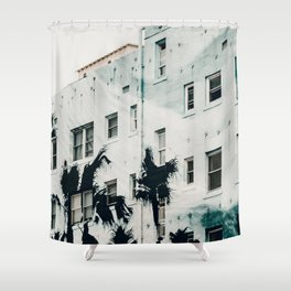 Palm Mural Venice I Shower Curtain