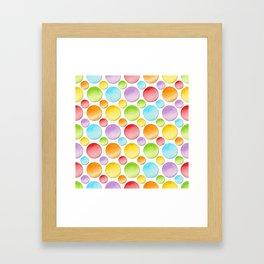 Rainbow Polka Dots Framed Art Print