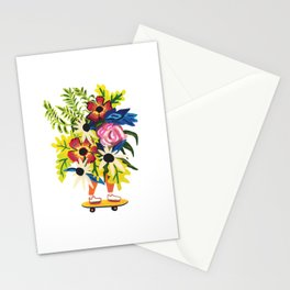 Skate Board Floral Babe Stationery Cards