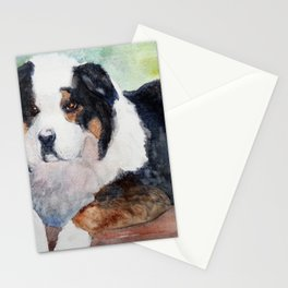 Man's Best Friend at Rest Stationery Cards