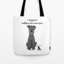 Schnoodle Supporting Healers Tote Bag