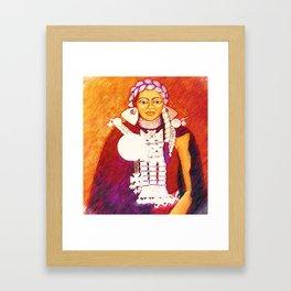 Daughter of the bright sun Framed Art Print