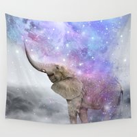 nirvana Wall Tapestries featuring Don't Be Afraid To Dream Big • (Elephant-Size Dreams) by soaring anchor designs