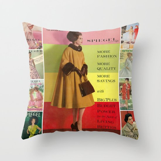 1961 Fall/Winter Catalog Cover Throw Pillow